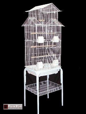 Barcelona Pagoda Vogelkäfig, mit Ständer, geeignet für kleine Vogelarten
