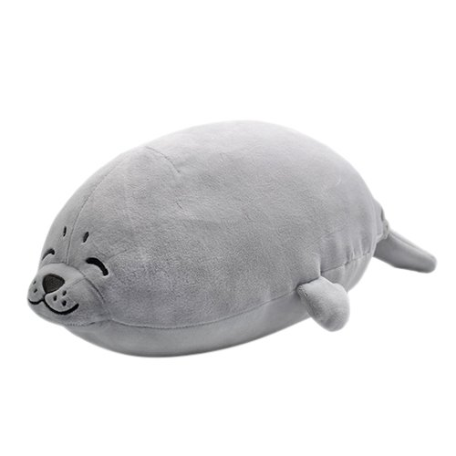 YINGGG Seal Soft Plush Pillow Animal Stuffed Toy Gift 70cm, Large, Grey