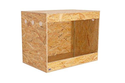 Happy-Echse OSB Terrarium, Holz Terrarium, Terrarium, Seitenbelüftung, 80 x 60 x 50
