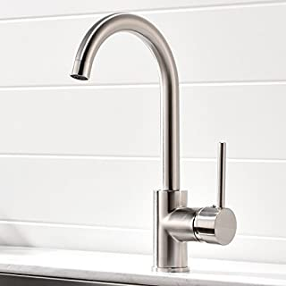 Aimadi Commercial Bar Sink Faucet - Stainless Steel Single Handle Hot and Cold Kitchen Sink Faucet,Brushed Nickel