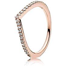 Pandora Women's Ring Shimmering Rose 186316CZ Stacker
