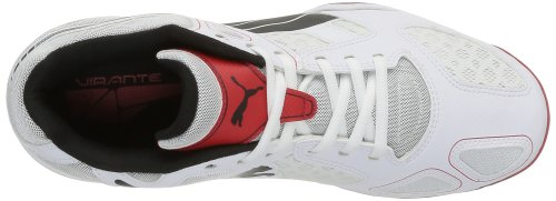 Puma Virante, Chaussures de sports en salle homme Blanc (White/Black/High Risk Red)