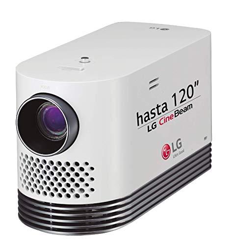"LG HF80LSR, Proyector Full HD (1920 x 1080 hasta 120\"", Fuente Láser, 150.000:1, Mini Jack 3.5 mm, LAN RJ45, Smart Share, Miracast), Bluetooth, HDMI, USB, FHD 2000 Lúmenes, Blanco"