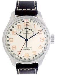 Zeno Watch Basel Pilot Oversized 8554Z-f2 - Reloj de caballero automático con correa de piel marrón