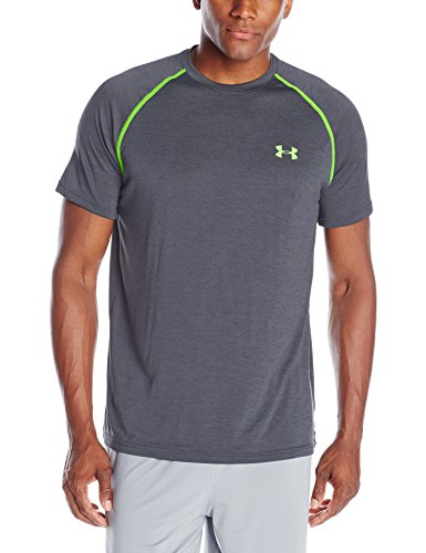 Under-Armour-Ua-Tech-Ss-Tee-Herren-Fitness-T-shirts-Tanks-Grau-Stealth-Grey-Gr-M