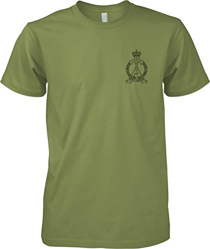 british-army-royal-pioneer-corps-bw-badge-official-mod-t-shirt-mens-military-green-x-large
