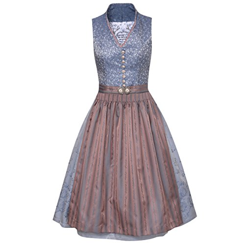 Tramontana Damen Trachten-Mode Midi Dirndl Inga in Blau traditionell