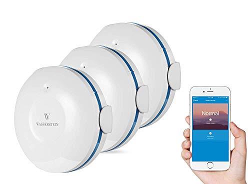 Smart Wi-Fi Wassersensor, Überflutungs- und Leckdetektor - Alarm und App-Benachrichtigungen, Keine teuren Zusatzkomponenten erforderlich, einfaches Plug & Play -von Wasserstein -