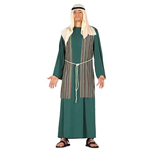 Costume pastore arabo verde giudeo Presepe vivente folla Passione di Cristo