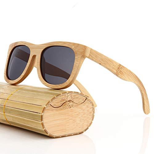 SLONGK Neue Sonnenbrille Männer Frauen Holz Schwarz Walnuss Retro Sonnenbrille Mit Holzkiste