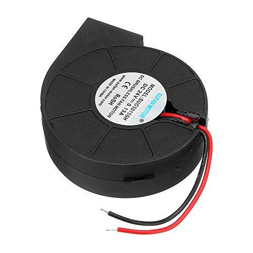 ExcLent 5015 24V Cooling Turbo Fan Brushless Extruder DC Cooler Blower Black Plastic Fan für Reprap 3D-Drucker