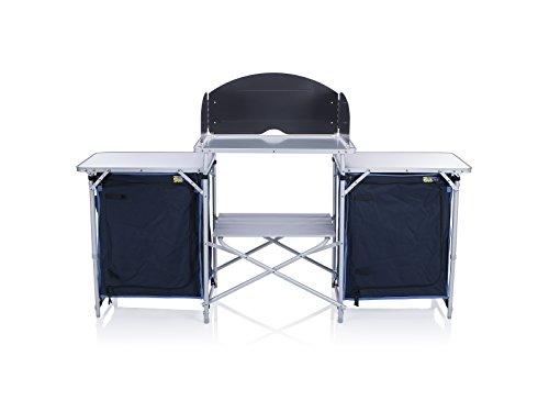 41PWiK3BrKL - Campart Travel KI-0732 Camping Kitchen Malaga, 172 x 48 x 79.5/110.5cm