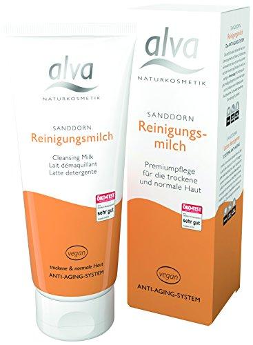 alva naturkosmetik Sanddorn Reinigungsmilch, 1er Pack (1 x 100 ml)
