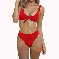 Amusement 1 * Bikini Split traje de baño de mujer adecuado para mujeres deportes al aire libre rojo, color rojo, tamaño large
