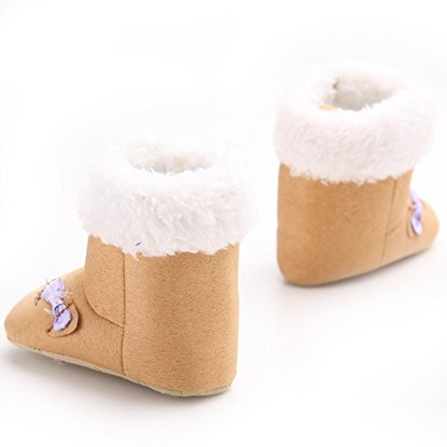 Boot Braun Clode® Warm Winter Schuhe Krippe Wohnungen weich Prewalker Kleinkind Sohle Knopf Stiefel wxfCC0qF4