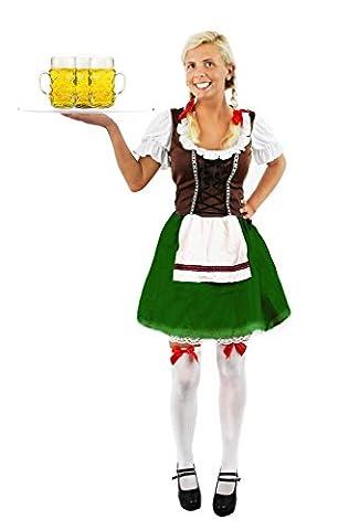 Alsacien Costume - Tenue de femme Bavaroise verte et marron