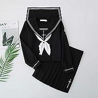 FXC - Uniforme escolar para niñas marinero, estilo marino, color negro