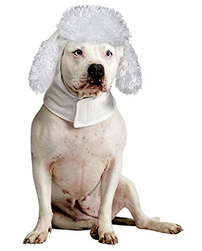 (Horror-Shop Hundemütze Weißer Pudel)