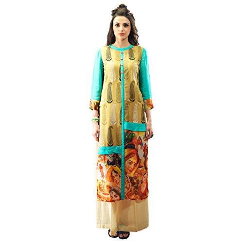 Admyrin-Women-Light-Yellow-Georgette-Digital-Printed-Tunic