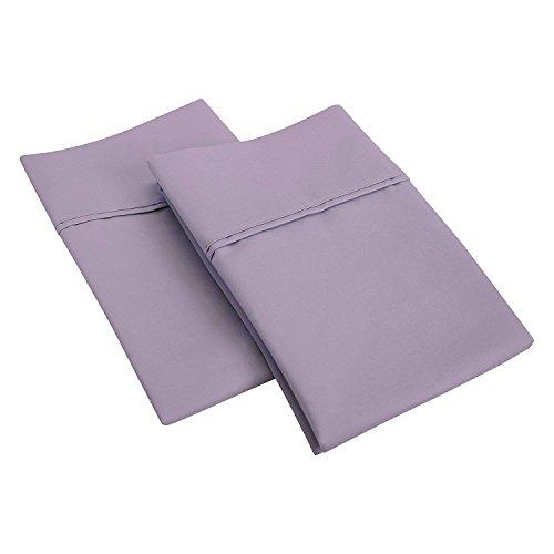 SGI 600Fadenzahl, 100% ägyptische Baumwolle, Kissenbezüge und Kissenbezug, 100% Baumwolle, Lavendel, Large Square 65X65cm -