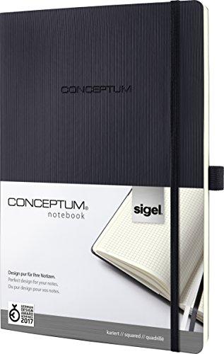 SIGEL CO300 Notizbuch, A4+, kariert, Softcover, schwarz, Conceptum - weitere Modelle