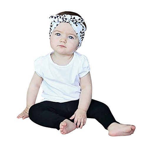 Domy 6 Pcs Pack New Fashion Baby Girls Hair Band Headbands Knotted Adjustable Accessories