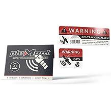 4er Set GPS-Sticker von Plemont - Warnaufkleber für Auto, LKW, Fahrrad & Co. als Diebstahlsicherung - Hochwertige GPS-Aufkleber