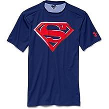 Camiseta de compresión de manga corta Under Armour Alter Ego Superman - Caspian 403