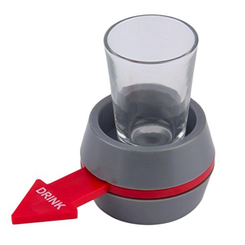 Party Trinkspiel , Huihong tragbare Spin-the-Shot Trinkspiel Schnapsglas Spinner für Home-Party / Bar / Trinkspiel Roulette Shot Game