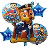 Book My Balloons Paw Patrol Foil Balloons (Set of 5)