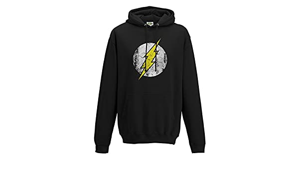 Flash Uomo The Logo Amazon it Abbigliamento Cappuccio Black dIx4wqxr