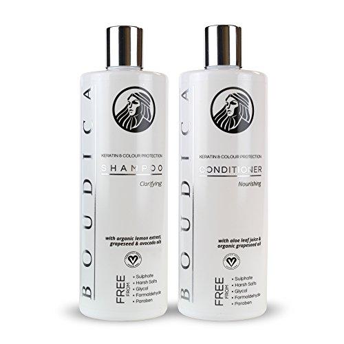 Shampooing Clarifiant Sans Sulfate Boudica - 500ml et Nutri-Revitalisant Sans Sulfate Boudica - 500ml