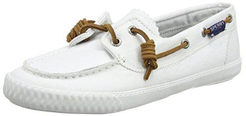 Sperry Top-Sider Sayel Away Washed, Baskets Basses Femme Blanc (Blanc)