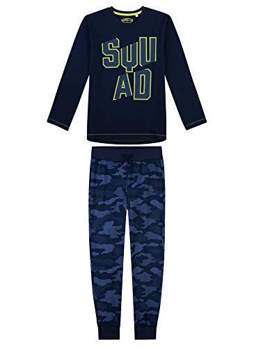 Sanetta Jungen Zweiteiliger Schlafanzug Squad-Camo, blau, 164 (Camo Schlafanzug Jungen)