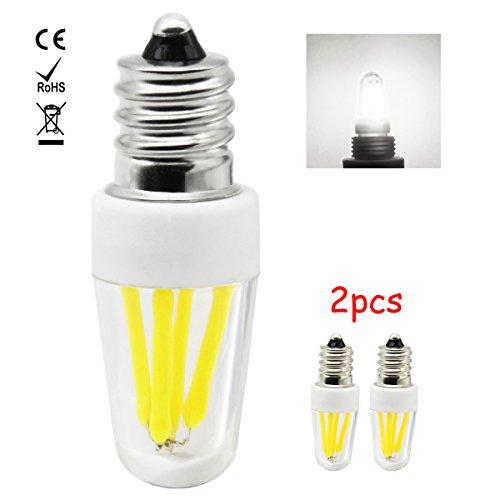 1819 E12 LED Lampe, 2W LED Birnen, Ersatz für 20W Halogen Lampen, globaler 360° Abstrahlwinkel kühles Weiß 6000K AC220-240V 200lm CRI >80, 2 Pack