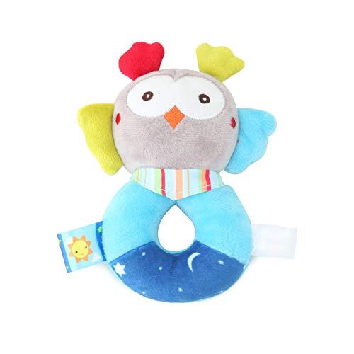 Baby-Ring Rattle Spielzeug Baby wackelt Plüsch Tier Eule Weiche Ring Rattle