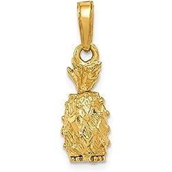 DIAMOND2DEAL INC Colgante de piña de Oro Amarillo de 14 Quilates