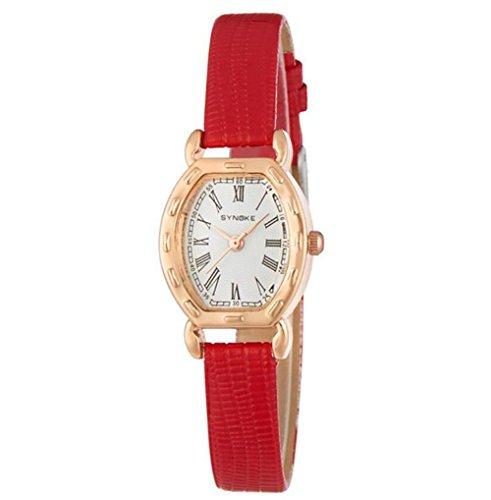 Damen Armbanduhr Frauen Berühmte weibliche Uhr Quarzuhr Quarzuhr , red - Face Dual Damen Uhr