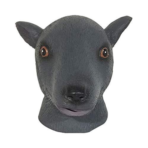 Amosfun Halloween Maus Vollmaske Latex Niedliche Tieremaske Kopfbedeckung für Halloween Cosplay Party