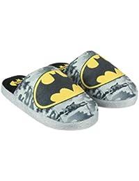 97ea224cc2d Batman- Chaussons d intérieur Enfant garçon Gris Noir ...