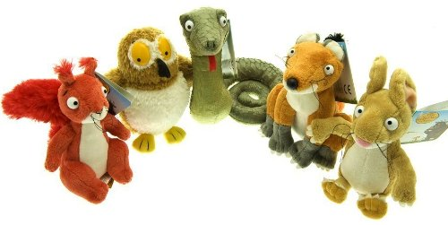 "Gruffalo collection 7"" - Fox, Red Squirrel, Mouse, Green Snake and Owl"
