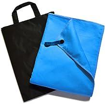 """Ryaco [Rapida essiccazione] R93S Sport asciugamano, tovagliolo di viaggio, microfibra Towel - assorbente eccellente e di qualità Premium! per il campeggio, spiaggia, piscina, palestra, fitness, yoga, nuoto, pilates, Bikram con resistenza Free Water Storage Bag (ardesia blu, 31.5"""" x 59"""" (80cm x 150cm))"""