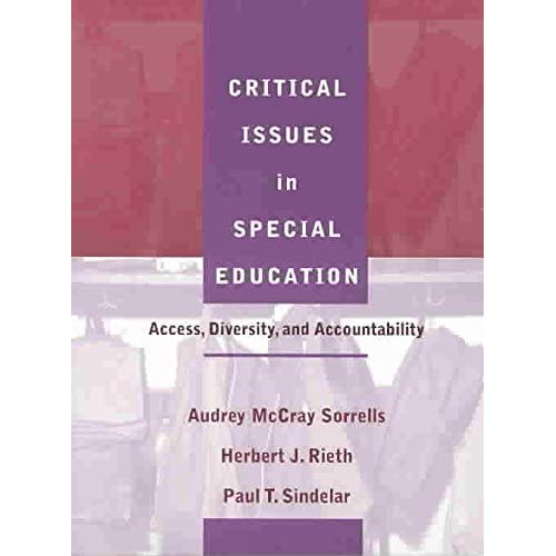 [Critical Issues in Special Education: Access, Diversity, and Accountability] (By: Audrey McCray Sorrells) [published: August, 2003]
