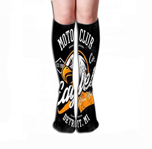 zexuandiy Hohe Socken Print Women's Men's Knee High Socks Athletic Over The Calf Tube 19.7