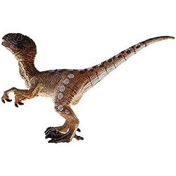 Homyl Juguete de Dinosaurio Figura Prehistórica Realista Juego de Aprendizaje Regalo de Fiesta Cumpleaños para Niños - velociraptor amarillo