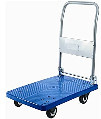 Bigapple Preminum Quality Single Platform Trolley Completely Foldable with 300Kg Capacity - Highly Durable
