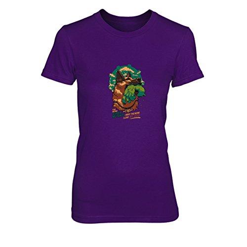 Fallout Kostüm Super Mutant - Super Mutant Dog - Damen T-Shirt, Größe: L, Farbe: lila