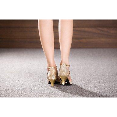 Scarpe Tacco Argento Da americani Vellutato da Grigio a Balli latino donna Non ballo Grey personalizzabile rocchetto Salsa rvrq6Fw