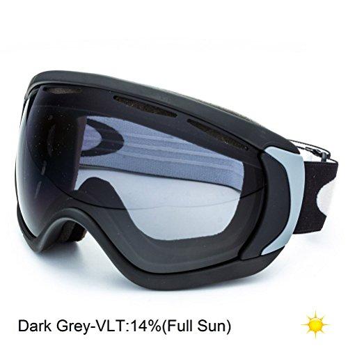 Oakley Canopy Masque de ski et snow Noir mat/Gris foncé