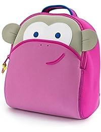 Dabbawalla Bags Blushing Pink Monkey Kids Toddler &Preschool Backpack Pink/Grey By Dabbawalla Bags